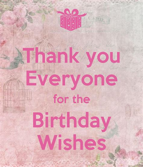 wishes for everyone thank you everyone for the birthday wishes poster