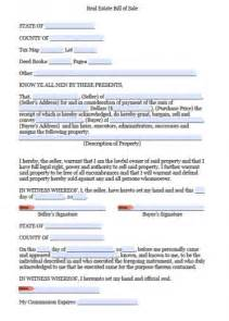 house bill of sale template real estate bill of sale form pdf rtf word