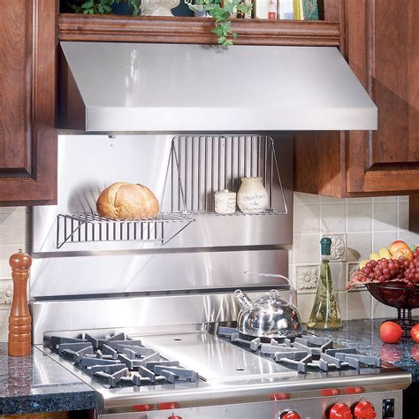 stainless steel backsplash with shelf broan rmp3004 30 in rangemaster stainless steel backsplash with folding shelf