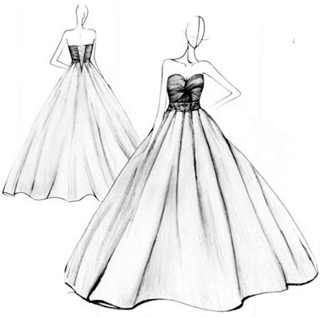 how to design a dress drawn gown simple pencil and in color drawn gown simple