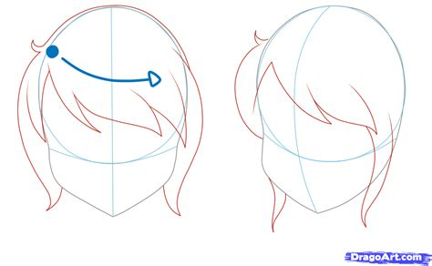 how to draw bangs how to draw hair step by step anime hair anime