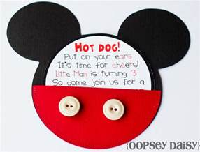 mickey mouse birthday invitations oopsey