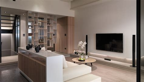 Contemporary Livingroom Multi Level Contemporary Apartment