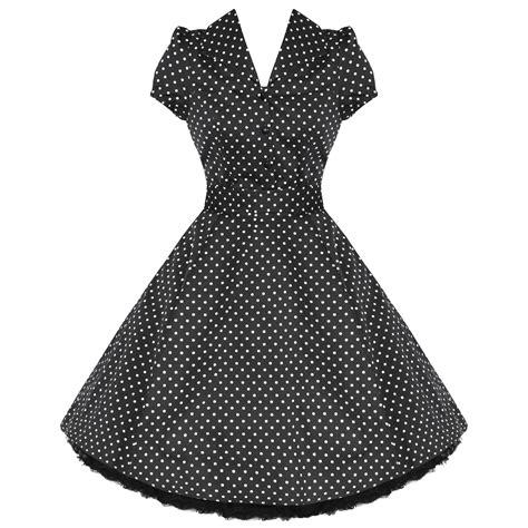 vintage swing kleid kleid damen rockabilly 50er jahre polka punkte retro kleid
