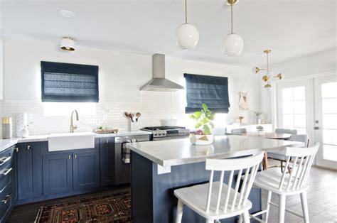 cuisine bleu marine d 233 co d int 233 rieur en store de l inspiration en 18