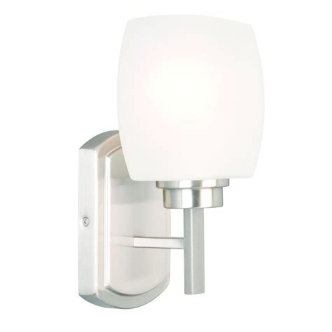 Brushed Nickel Sconces Hton Bay Tamworth 1 Light Brushed Nickel Sconce