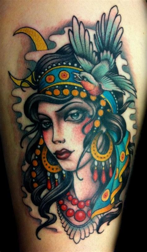gypsy girl tattoo design by w t norbert tattoos