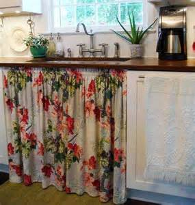 vintage kitchen sink and curtain my retro caravan