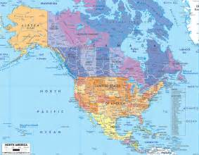 america on map political map of america pacific atlantic oceans
