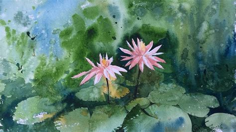 watercolor water lily tutorial water lily watercolor demonstration by prashant sarkar