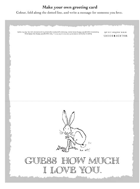 Guess How Much I Love You Greetings Card Scholastic Kids Guess How Much I You Coloring Pages