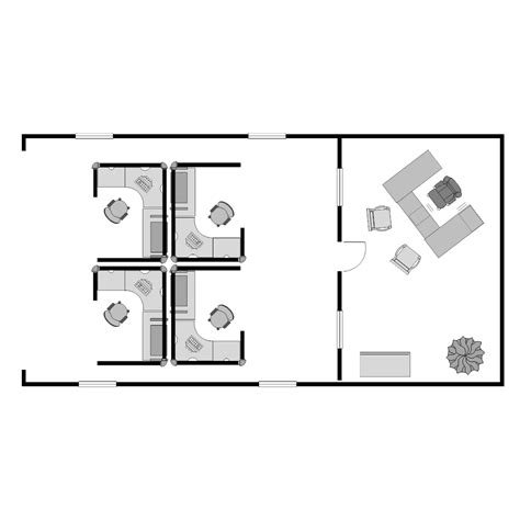 small office cubicle floor plan exle