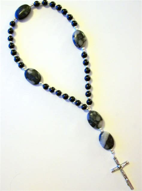 anglican rosary anglican rosary in marble and onyx
