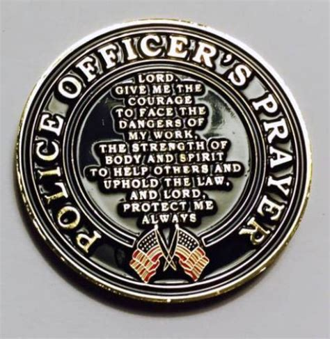 Patron Of Officers by Michael Patron Of Officers Coin With