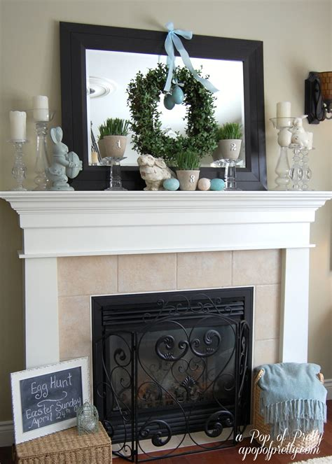 Everyday Fireplace Mantel Decorating Ideas Easter Decorating Ideas Mantel 2011 A Pop Of Pretty