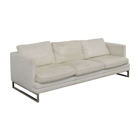 Z Gallerie Leather Sofa 50 Z Gallerie Z Gallerie White Leather Three Cushion Sofa Sofas