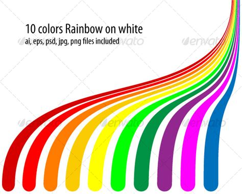 rainbow color order 10 colors rainbow by cristianalm graphicriver