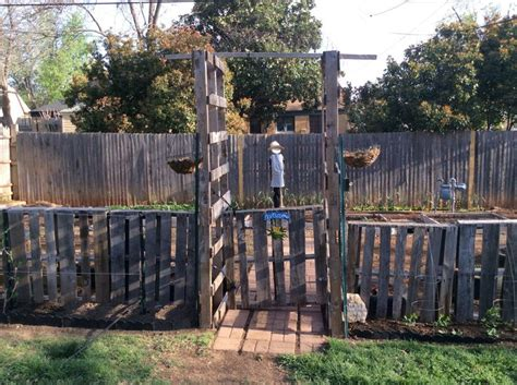 9 Foot Trellis 8 Foot Pallet Used For Arbor Gate Covered In Hog Wire For