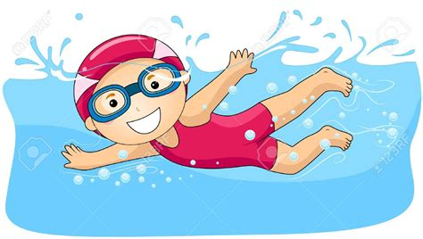 disegni clipart boy swimming clipart