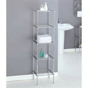 Chrome Shelves Bathroom Neu Home Metro Collection 5 Tier Shelf Chrome Finish Walmart