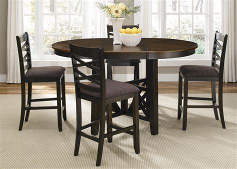 furniture gt dining room furniture gt height table vendor 5349 bistro ii gathering height pub table with butterfly leaf becker furniture world