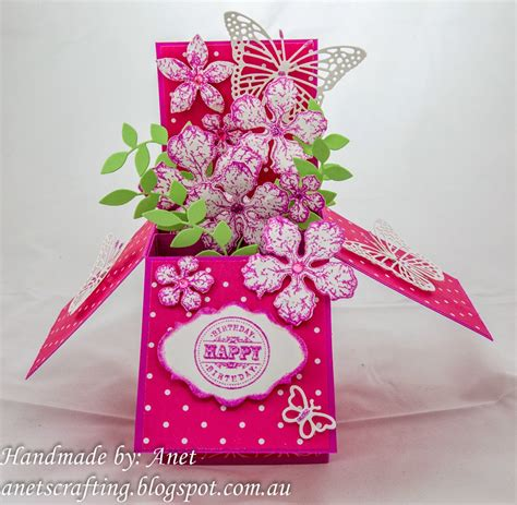 birthday pop up cards templates flower anet s crafting flower pop up card box