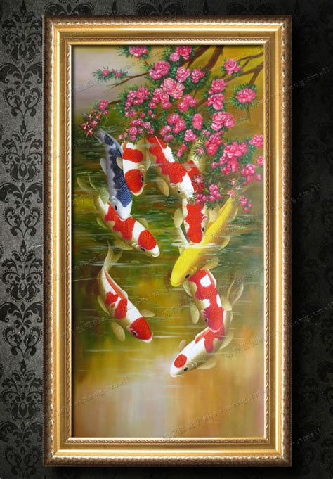 feng shui painting oil painting lucky feng shui painting chinese style