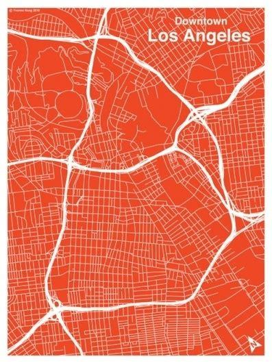 Pattern Paper Downtown La | la map red3 jpg 500 215 667