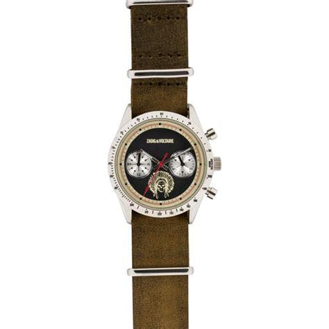 montre zadig et voltaire master zvm107 montre fuseaux multiples femme sur bijourama