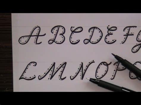 cursive fancy letters how to write cursive fancy letters