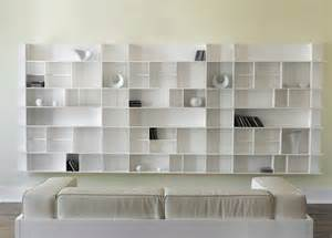 Black Lacquer Bookshelves - panorama contemporary wall unit contemporary furniture