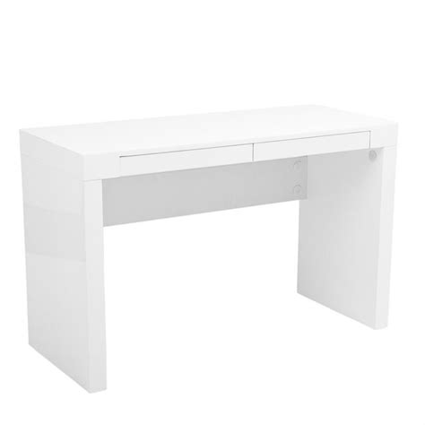 Lacquer White Desk by Eurostyle Donald 47x20 White Lacquer Home Office Desk Ebay