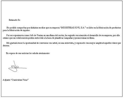 Modelo De Carta De Presentacion Para Adjuntar Curriculum Carta De Presentaci 243 N Para Una Empresa Ejemplos De