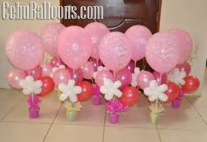 Baby Shower Topiary Centerpieces - birthday centerpieces with curled stick cebu balloons and party supplies