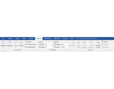 word layout tab word 2016 layout tab