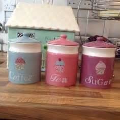 cupcake canisters for kitchen details about 3 x small cupcake canister set retro kitchen
