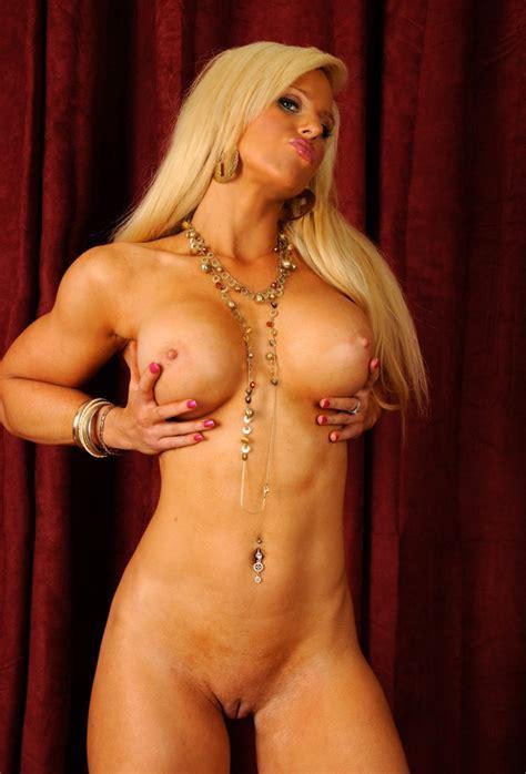 Sexy And Muscular Fitness Model Bikini Strip Tease