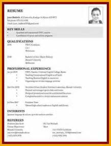 Cover Letter For A Curriculum Vitae Cv by 9 Exle Of Curriculum Vitae For Application