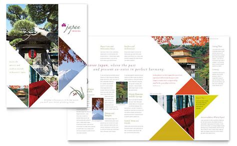 tourism brochure templates japan travel brochure template design