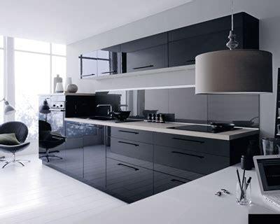 cuisine noir et gris deco cuisine noir et gris