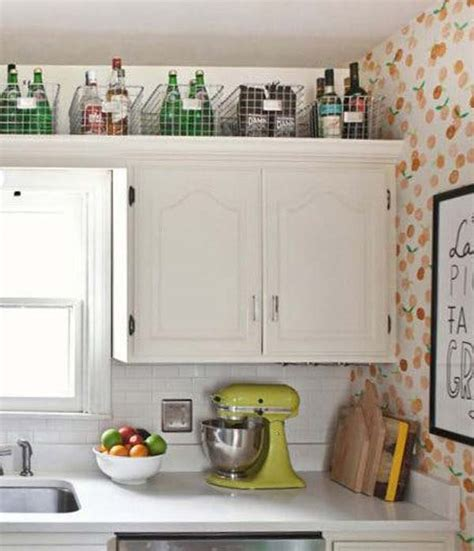 decorating above kitchen cabinets 20 stylish and budget friendly ways to decorate above