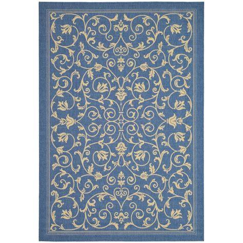 safavieh indoor outdoor rugs safavieh courtyard blue 9 ft x 12 ft indoor outdoor area rug cy2098 3103 9 the home