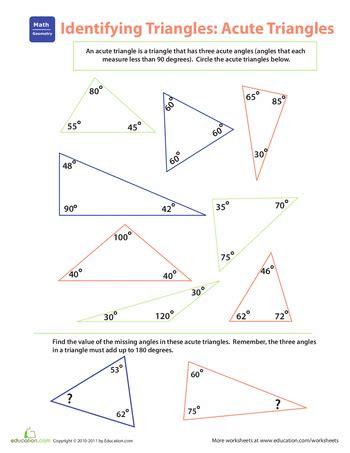 Identifying Triangles Worksheet