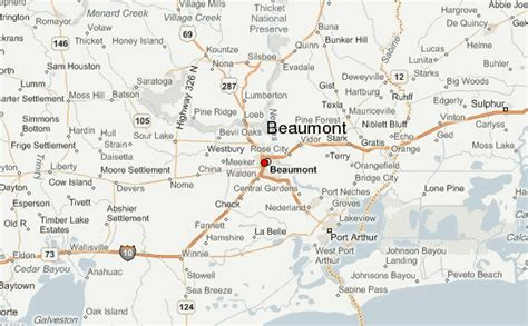 map of beaumont texas beaumont location guide