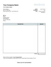 individual invoice template personal invoice template invoice exle
