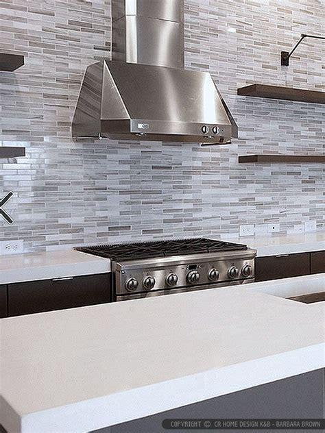 Kitchen Marble Backsplash Modern White Gray Marble Kitchen Backsplash Tile From