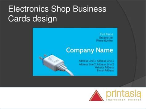 Gift Card For Online Shopping - electronic shop visiting cards visiting cards online design for ele