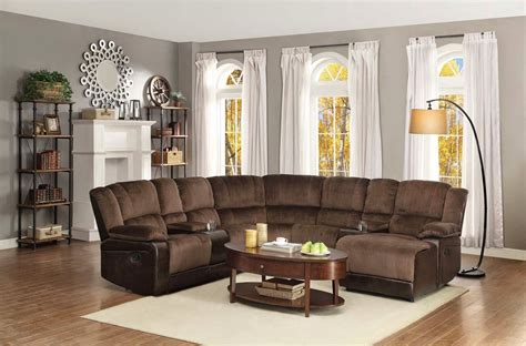 Sectional Sofa In Living Room Brown Circular Sectional Sofa Canada In A Living Room With A Floor L And A Wooden