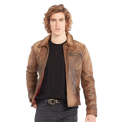 Rompi Vest Zipper Polos 9 lyst polo ralph leather zip jacket in brown for