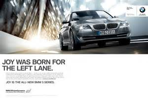 bmw was born for the left ads of the world